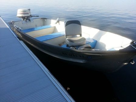 Older 14' Meyers Aluminum Fishing Boat and Trailer