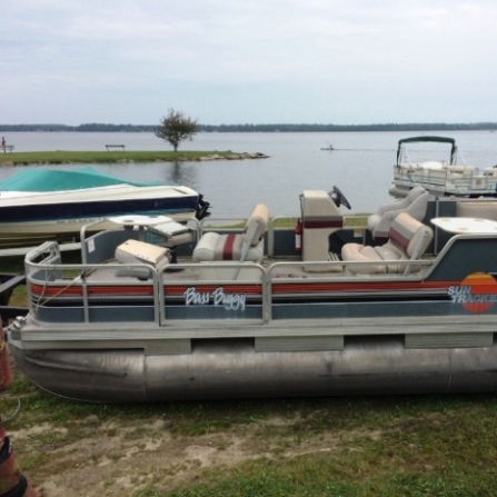 Pontoon, Motor, Lift and Dock Package <b><font color='red'>SALE PRICE: $3,900</b></font>