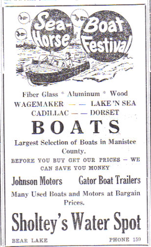 Read more: 1959 - 1970's Sholtey's Water Spot - Sea Horse Boat Festival Ad